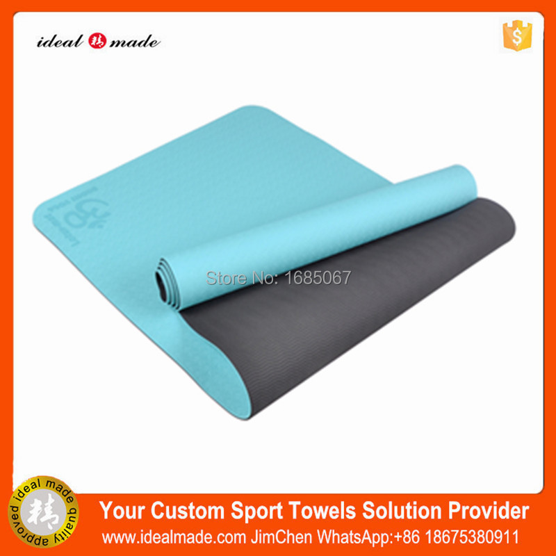 Eco friendly 6mm foldable yoga mat anti slip custom fitness colorful yoga mattress thick camping high resilient TPE yoga mat high quality colorful cork tpe yoga mat 6mm eco friendly non slip yoga mattress training mat fitness exercise mats pilates pads