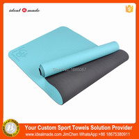 Eco friendly 6mm foldable yoga mat anti slip custom fitness colorful yoga mattress thick camping high resilient TPE yoga mat
