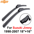 "Qeepei wiper blades para suzuki jimny 1998-2007 18 ""+ 16"" de alta qualidade iso9001 borracha natural limpo brisa dianteiro f03"
