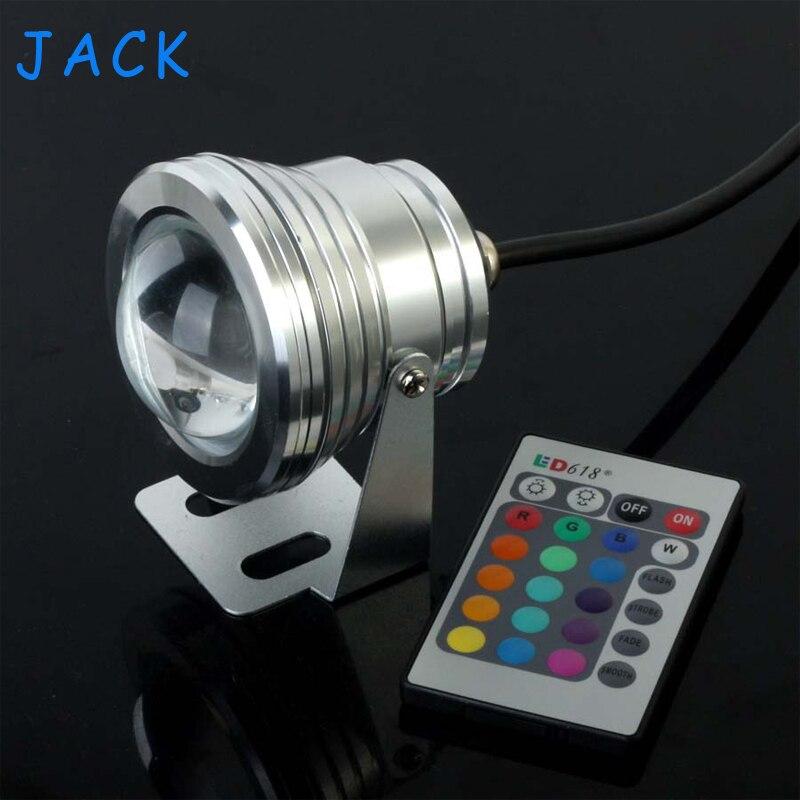X10 10W 12V RGB LED Underwater Fountain Light 1000LM Swimming Pool Pond Fish Tank Aquarium LED