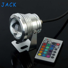 X10 10W 12V RGB LED Underwater Fountain Light 1000LM Swimming Pool Pond Fish Tank Aquarium LED  Lamp IP68 Waterproof 16 Colors