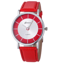 Geneva Women Fashion Watches Retro Dial Leather Clock Analog Quartz Lady Girls Wrist Watch WatchesF3