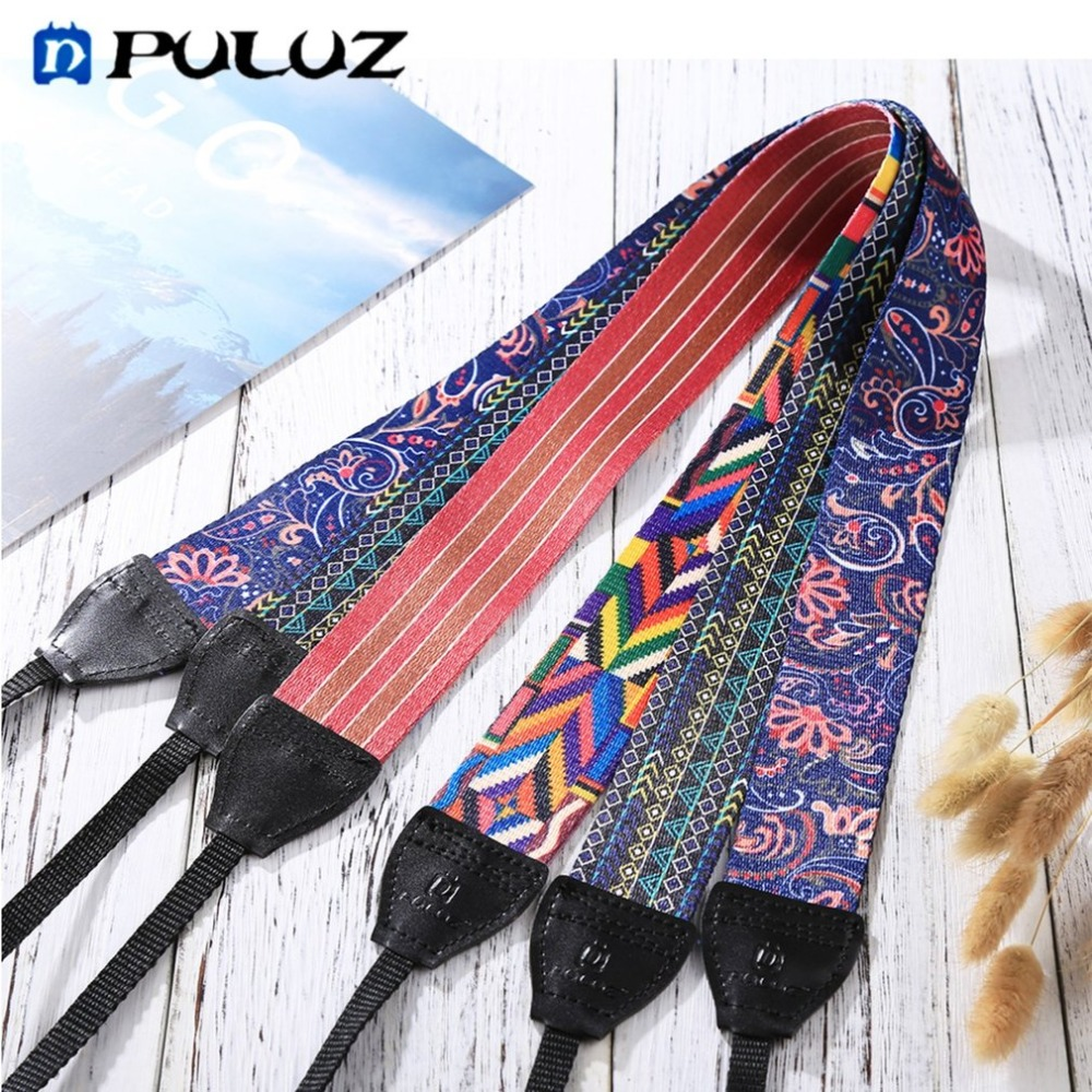 PULUZ Ethnic Style Camera Neck Shoulder Camera Strap Belt Soft Durable Cloth Strap for SLR/DSLR Cameras