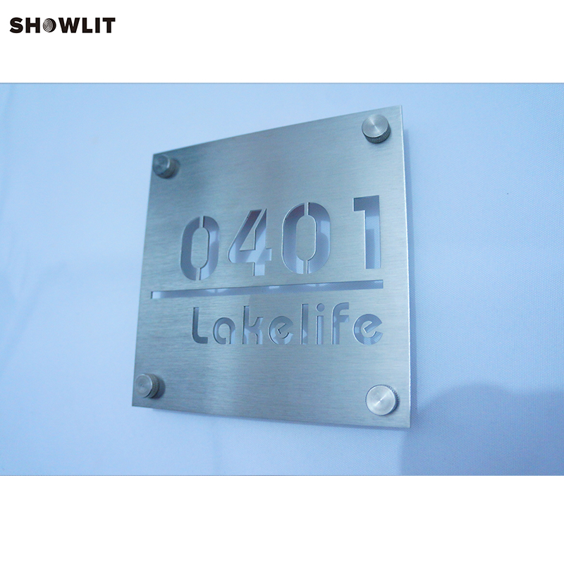 Custom Made Metal House Address Door Plaques stainless steel metal address plaques letters and numbers custom available