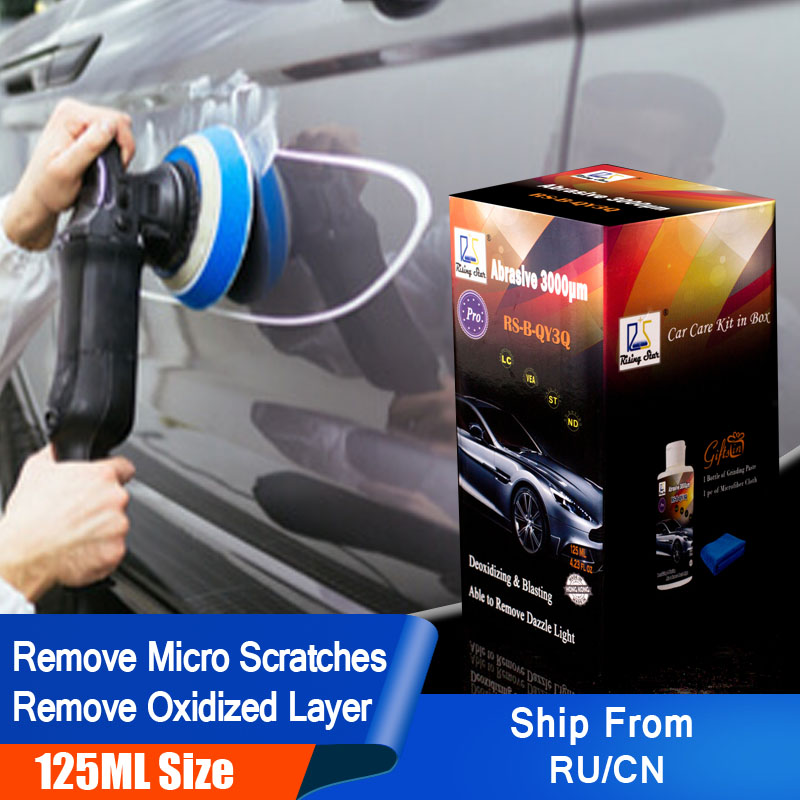 Rising Star RS-B-QY3Q Car Polishing Paste To Remove Scratches And Oxidized Layer Abrasive 3000um 125ml Kit For Professionals