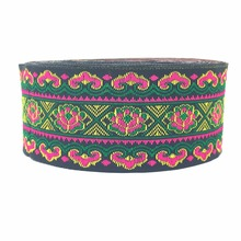 ZERZEEMOOY 40MM 9YARD/LOTS DIY handmade accessories national style flower embroidery lace Chinese woven jacquard ribbon