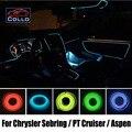 9 M um conjunto fio EL / para Chrysler Grand Voyager / Town & Country / carro atmosfera romântica lâmpada / Console faixa decorativa / DIY