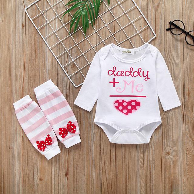 a4657c249 2019 Spring Autumn baby Girl Outfit Cotton Long Sleeved Baby Girl Clothes Cute  Baby Rompers+Foot cover Set Infant Clothing