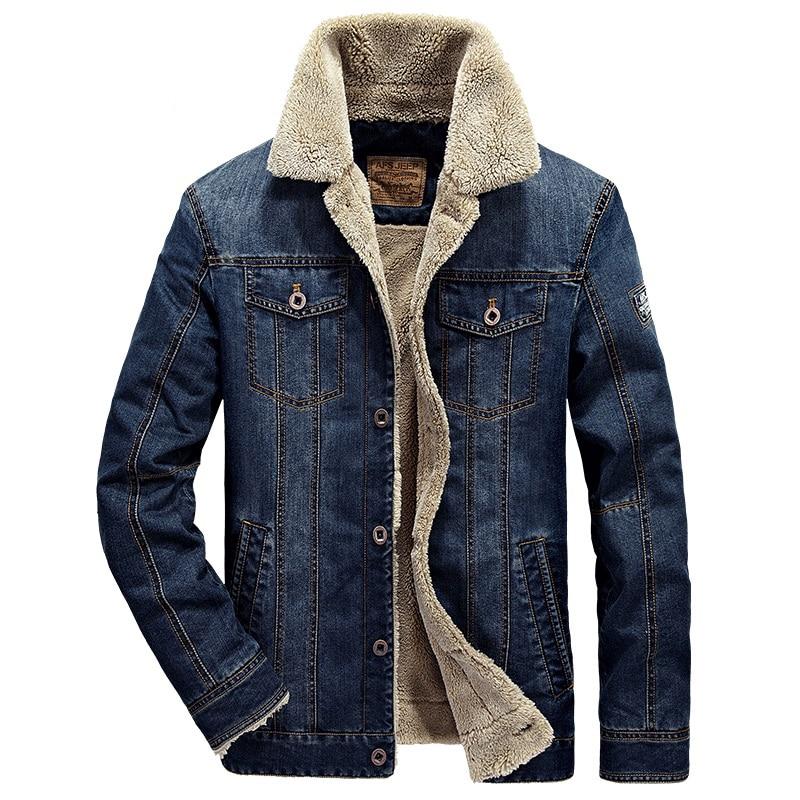 Décontracté Automne Dark Marque Vêtements Denim De En Blue Epaissir Hiver Blue Jean Veste Nouvelle Hommes 4xl Mode Costume Outwear denim Arrivée mwv8ny0ON