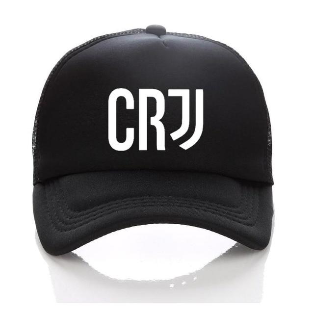 e73155b283 Full Black 7 Baseball Hat Kids Adult Summer RONALDO Caps FANS JUVENTUS  Trucker Cap JJ Net Snapback hats juventus hat For Men