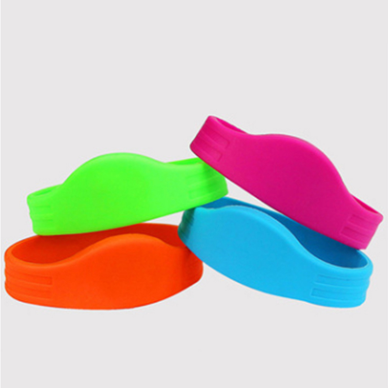 Free Shipping RFID Wristband  13.56mhz I-CODE-2 For Ticket System And Harsh Environment  100pcs/lot