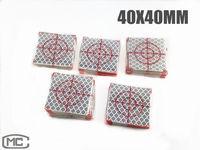 100PCS REFLECTIVE SHEET 40X40MM REFLECTIVE TAPE TARGET (CUSTOMIZABLE)