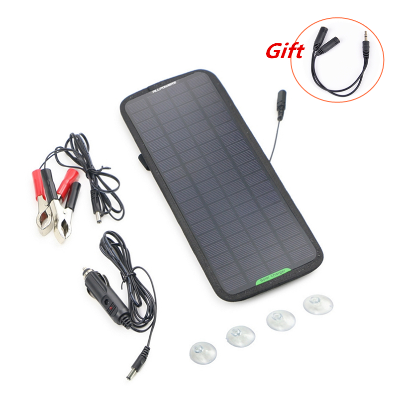 High quality <font><b>12V</b></font> <font><b>5W</b></font> Monocrystalline <font><b>Solar</b></font> <font><b>Panel</b></font> Car Automobile Boat Portable <font><b>Solar</b></font> Cells Rechargeable Power Battery Charger image