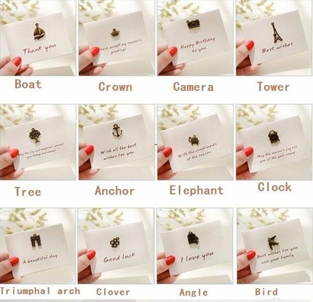 12 Engraved Memory Mini Metal Folding Handmade Greeting Card For