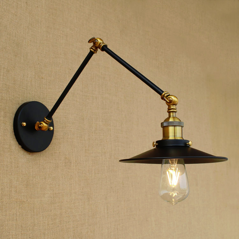 Adjustable Sconce Retro Loft Wall Light Vintage Industrial Loft Wall Lamp Long Arm Wall Sconce Adjustable Arm Lamp Bathroom nordic loft creative loft milan industrial style modern bedroom study long arm living room villa copper bronze wall sconce lamp
