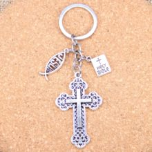 20pcs New Fashion DIY Keychain jesus cross book holy bible Pendants Men Jewelry Car Key Chain Souvenir For Gift brand new vintage christian holy bible necklaces pendants for women retro gold jesus necklace men cross prayer jewelry gift