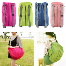 portable Zipper Soild Daily Traveling Sports Backpacks Shoulder bags Folding bag camping bag free shipping