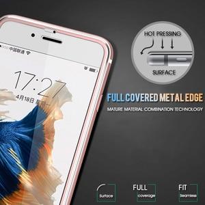 Image 5 - 3Dアルミ合金強化ガラスのためのiphone 6 6s 7 8プラスフルカバーエッジiphone × 10 5 5s、seガラスフィルム