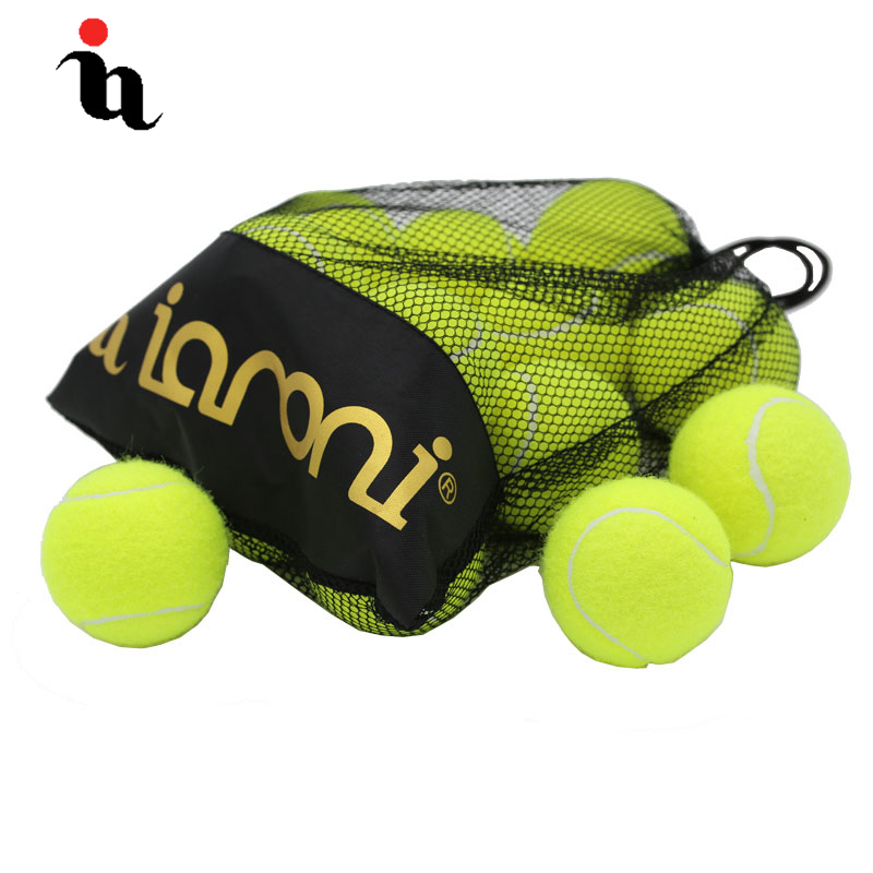 IANONI 12 Pack Tennis Balls Training Yellow Tennis Balls For Lessons Practice,Playing With Pets Tennis Accessories Carrying Bag
