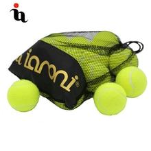 IANONI 12 Pack теннисные мячи тренировочные Желтые Теннисные Мячи для занятий, игры с домашними животными теннисные аксессуары сумка для переноски