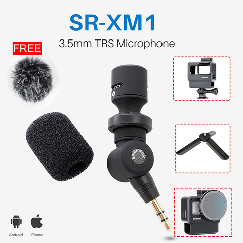 Saramonic SR-XM1 3.5mm TRS Microphone Plug and Play Mic for DSLR Cameras Camcorders Muff Windshield Gift with V2 V2 Pro Cage Pakistan