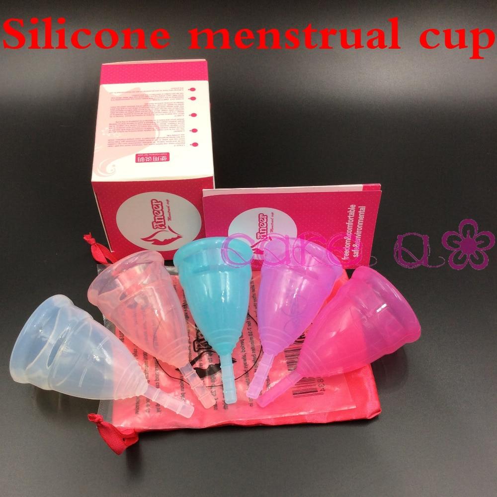 200pcs Wholesale most sold diva cup health care menstrual silicone copa menstrual cups replace sanitary napkin pass FDA
