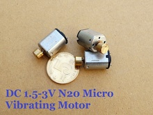 20pcs/Lot 10*12 MM Miniature DC 1.5V-3V Vibration N20 Motor With Copper Vibrator