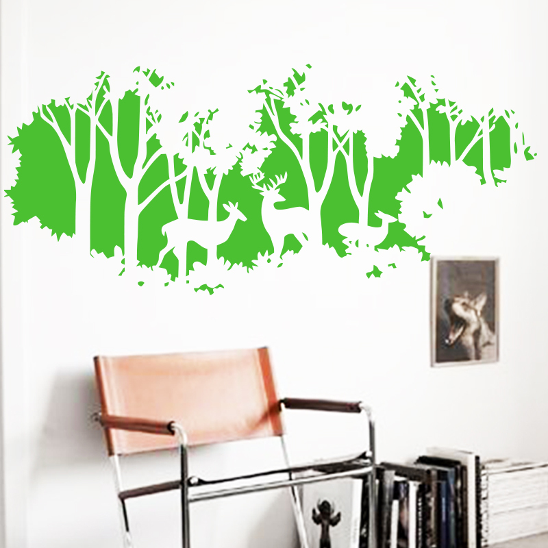 JJRUI Deer In Forest Home Decoration Wall Paper U0026 Art DIY Vinyl Large Home  Decor Wall Sticker 21 COLOR In Wall Stickers From Home U0026 Garden On  Aliexpress.com ...