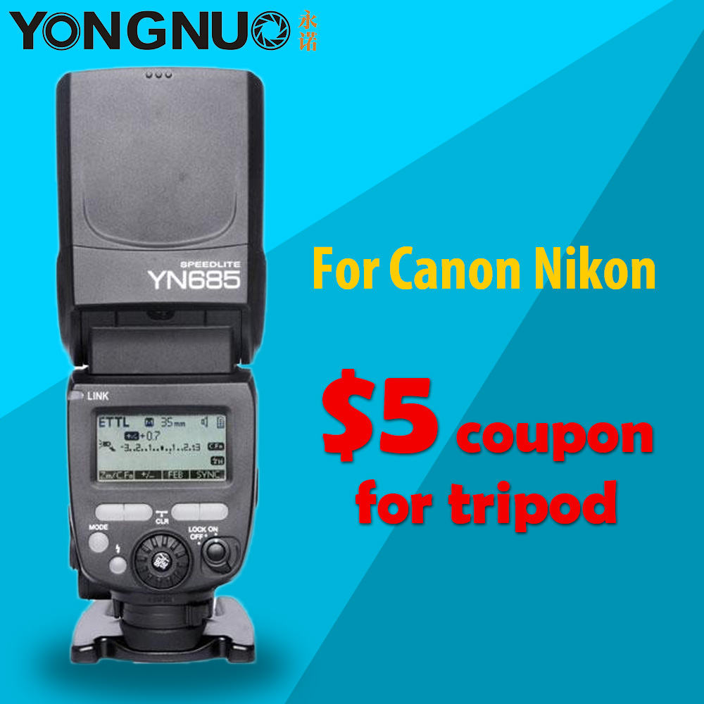 YONGNUO YN685 Sans Fil 2.4G HSS TTL/iTTL Speedlite Flash pour Canon Nikon soutien YN560IV YN560-TX RF605 RF603 II YN685C YN685N