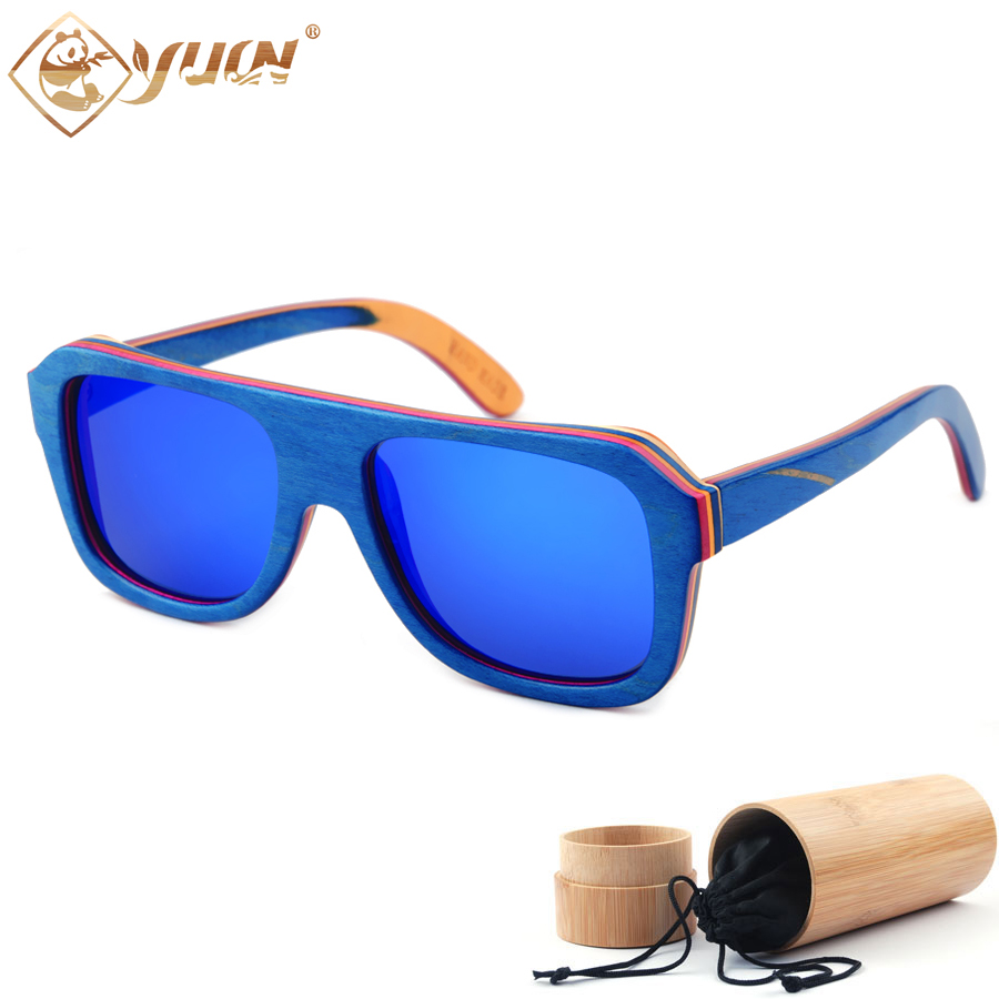 2017 hot sale sunglasses men classic skateboard wood sun glasses fashion summer polarized sunglasses oclos de