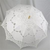 Nnew Fashion And Hot Selling Black Handmade Cotton Lace Parasol Umbrella Bride Wedding