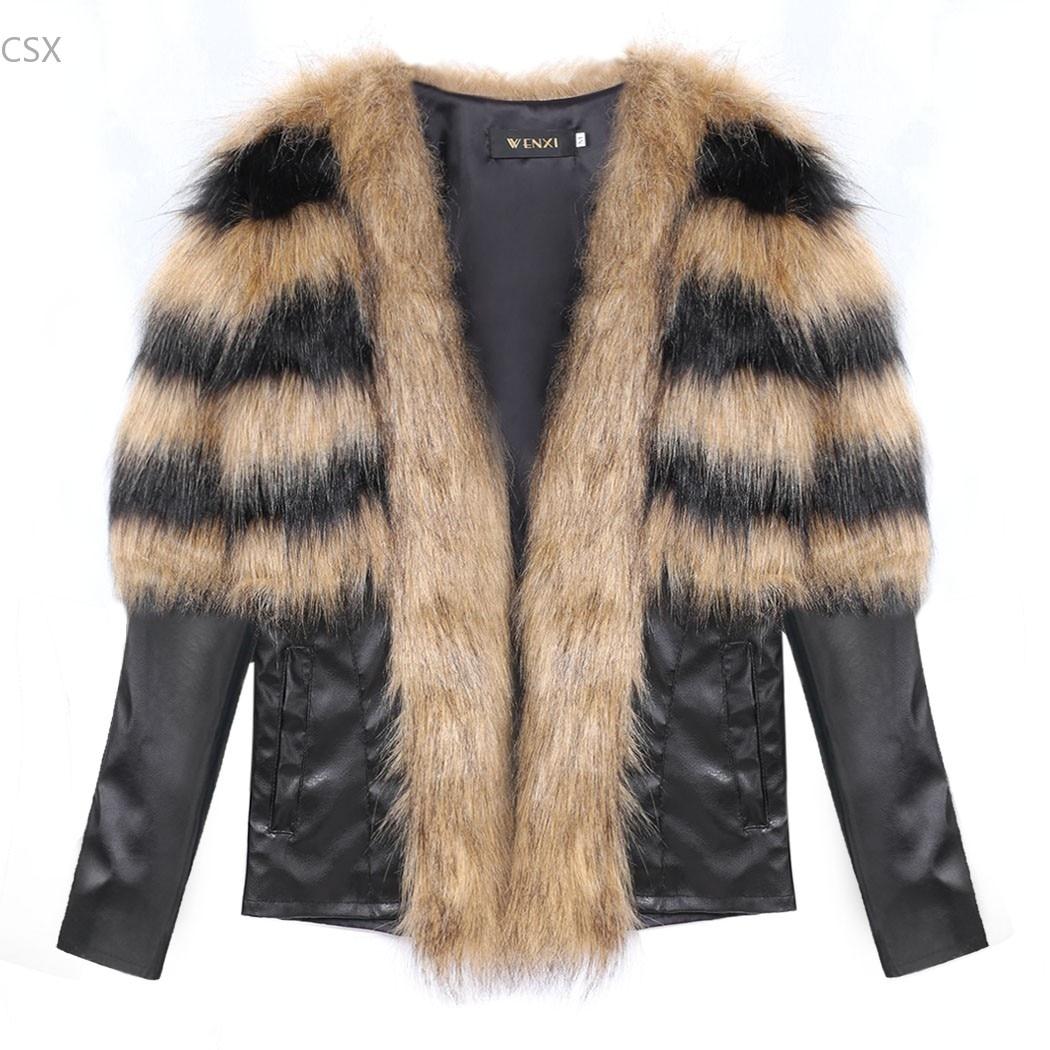 100% QualitäT Mwoiiowm Winter Frauen Warm Faux Pelz Mantel Schlank Winter Mantel Synthetische Leder Frauen Vintage Jacke Schwarz/braun Frau Kleidung Novel (In) Design;