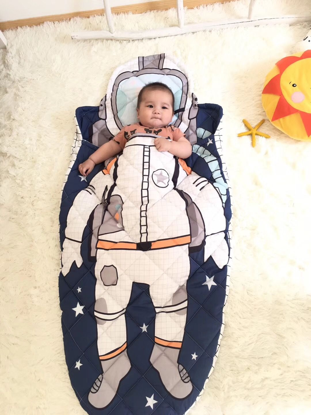 Cotton Baby Sleeping Bag Us 40 500g Pure Cotton Baby Sleeping Bag High Quality Astronaut Boy Girl Children S Style Sleeping Bag Baby Bed In Sleepsacks From Mother Kids