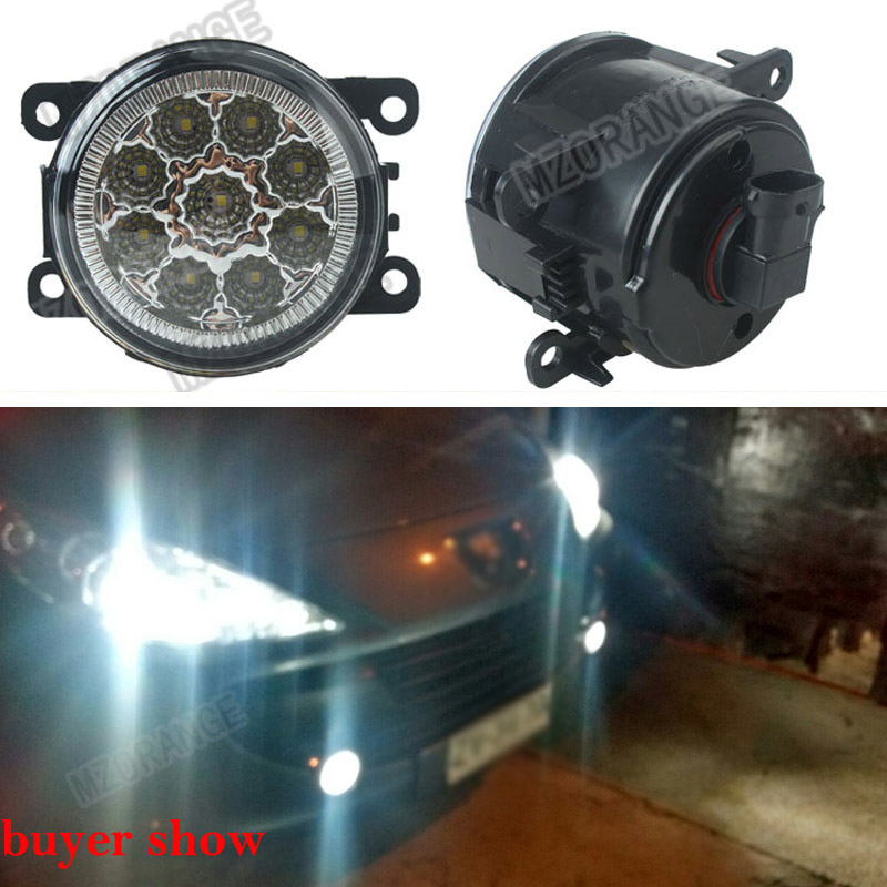6000K CCC 12V car-styling DRL Fog Lamps lighting LED Lights 9W /1 SET For Renault DUSTER LATITUDE LOGAN Laguna / MEGANE 2/3/CC