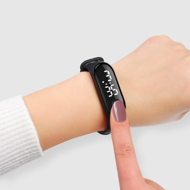 Men LED Digital Watch Luxury White Light Touch Screen Silicone Strap Wristwatch Women Sports Yoga Bracelets Watches Kids Clocks 3