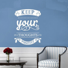 YOYOYU Vinyl Wall Decal Keep Your Thoughts Positive Motivation statement Interior Modern Decoration Stickers FD191