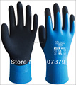 2 pairs  Latex Dipped Labor Gloves Water Resistance Safety Gloves Water Proof Work glove