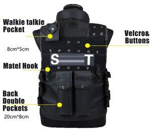 Image 3 - Тактический жилет с 11 карманами для мужчин, Охотничий Жилет для улицы, военный тренировочный жилет, защитный модульный жилет безопасности