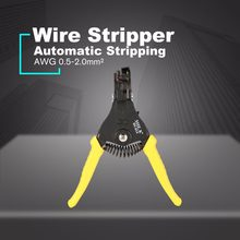 She. K Multifunctionele Automatische Cable Stripper Crimper Krimpen Tang Strippen Awg 0.5-2.0 Terminal Hand Tool(China)