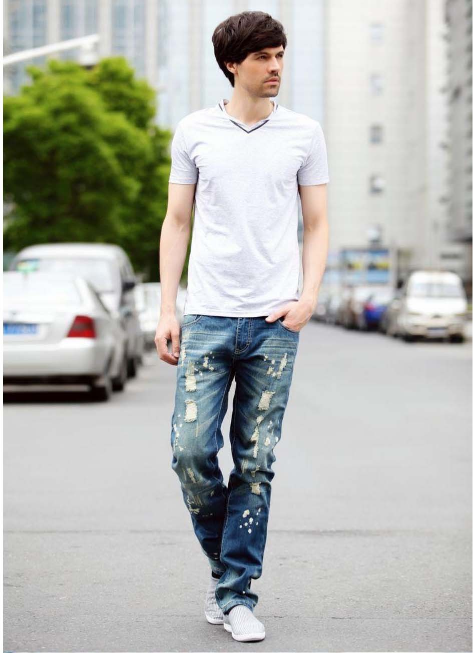 Aliexpress.com : Buy Large Size Ripped Jeans Printed Jeans Men 40 ...