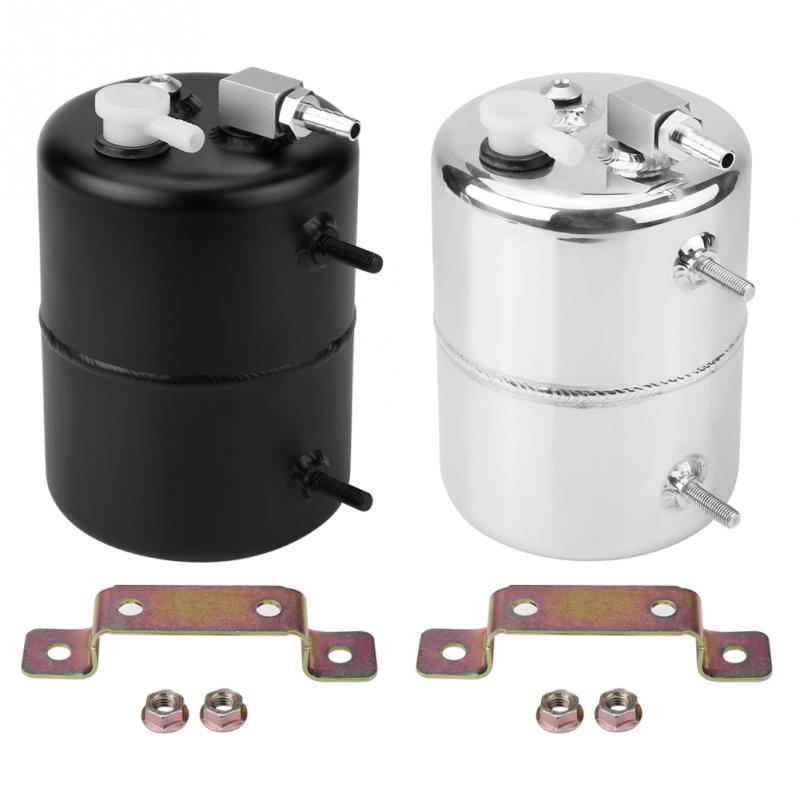 Oil Catch Tank Breather Universal Aluminium Alloy 2L Vacuum Brake Compact Baffled Vacuum Reservoir Tank Auto Accessories brake vacuum canister reservoir tank aluminium alloy vacuum brake booster can universal for chevy mopar for ford drift track