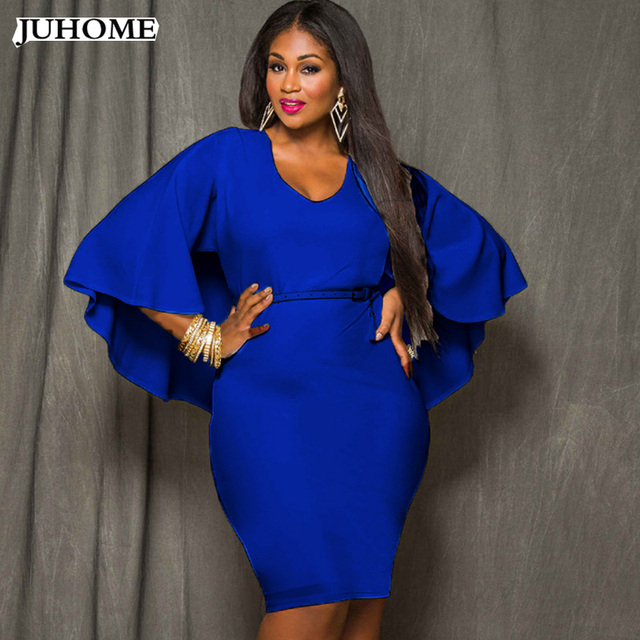 US $12.45 22% OFF|Dress Vestidos Summer Women Plus Size Elegant Tunic Work  Business Casual Party Pencil Sheath dress For Fat Big size dress robe-in ...
