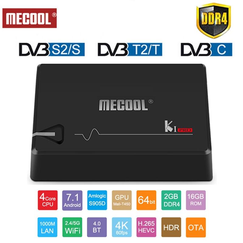 HOT SALE] Mecool DVB T2 Android KI PRO KII PRO DVB S2 S905D