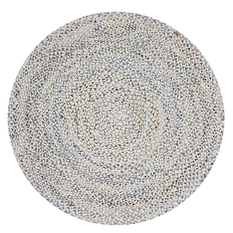 Tapis de jute faits à la main grande pièce géométrique tapis rond salon chambre tapis table basse étude islamicité prière chaise longue en plein air