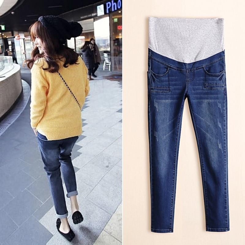 Hot Sale New Maternity Pants Denim Pregnant Jeans Plus Size High