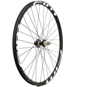 Image 3 - Bicicleta de Montaña de carbono XC/Trail wheels, con cubierta de eje pasante, sin tubo, 27mm de ancho
