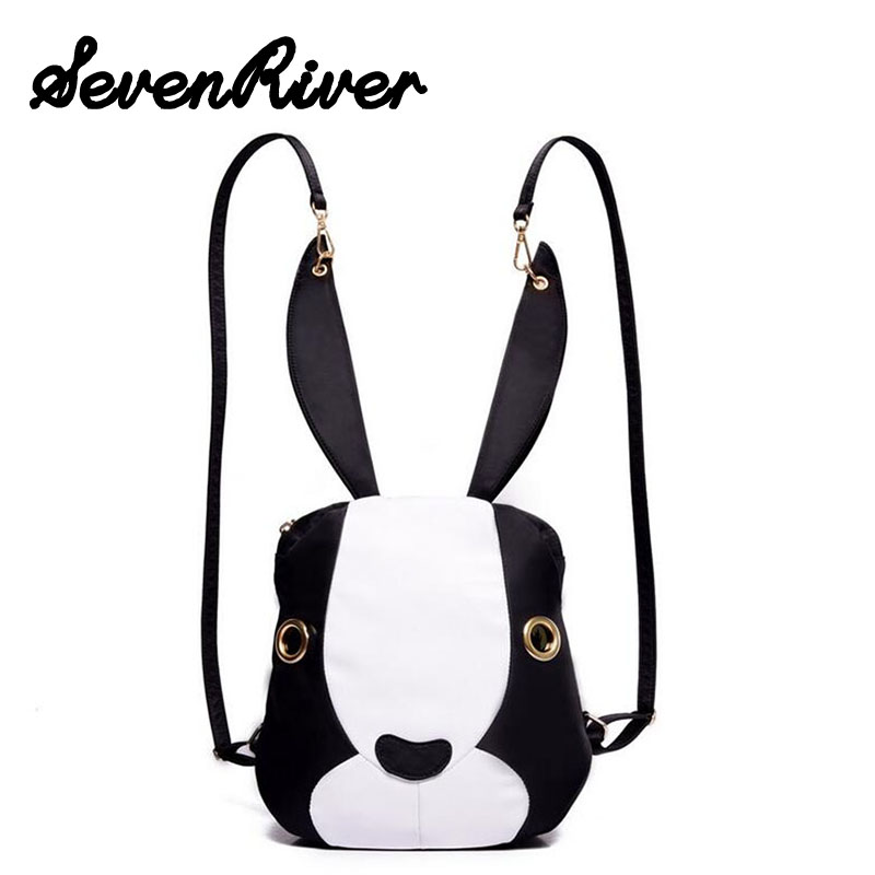 Cute Rabbit Shoulder Bag Women Girl s Travel Nylon Backpacks Schoolbag Popular Summer Bag Bolsos Mochila