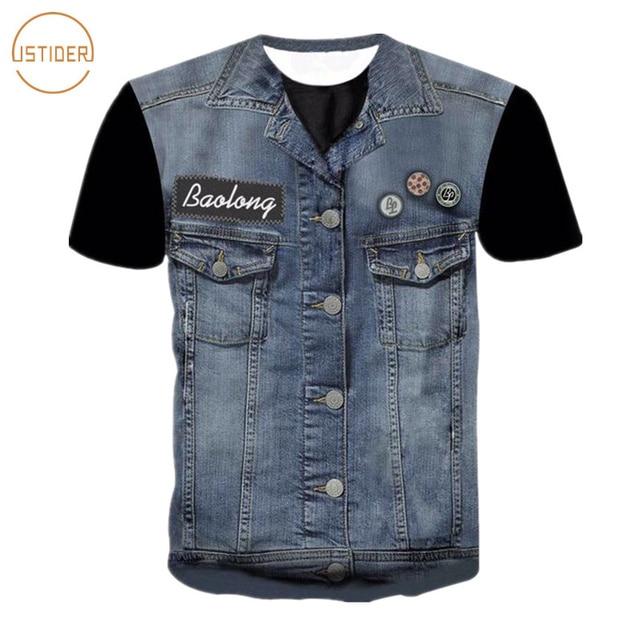 ISTider Newest Hip Hop T-Shirt Men/Women Tees Shirts 3D Tshirt Print Fake