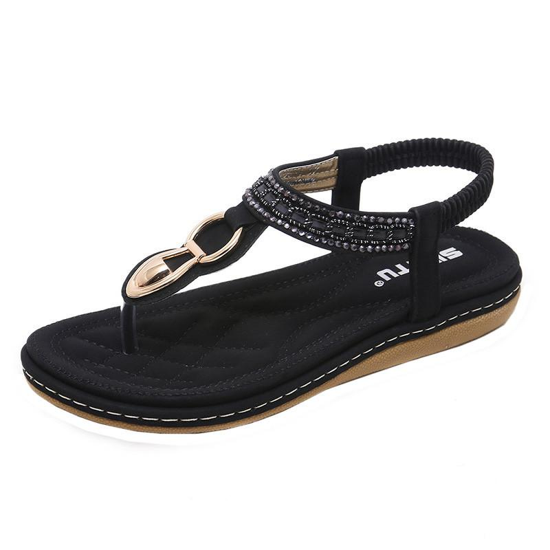 De Playa Flip Mujeres Las Toe caqui Flops Clip rosado Señoras Del Zapatos Para Bohemia 2018 Mujer Los azul Sandalias Negro A6 Planas Verano Siketu qw6OF8n
