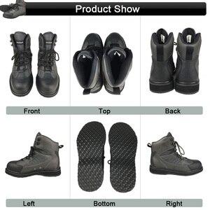 Image 5 - Waders de pêche à la mouche, pantalon et chaussures de wadings pour la chasse, combinaison imperméable avec semelle en caoutchouc, combinaison pour le travail en plein air, vêtements en amont DXR1